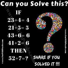 Math Logic Puzzles, Math Games, Mental Maths Worksheets, Trivia Questions, Brain Teasers, Question And Answer, Riddles, Illusions, Letters