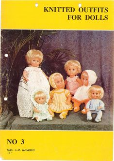 Baby Doll Clothes, Doll Clothes Patterns, Doll Patterns, Clothing Patterns, Baby Dolls, Print Patterns, Knitting Books, Vintage Knitting, Dolly Fashion