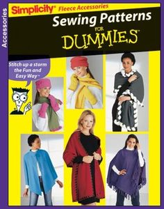 Simplicity 5908 Misses' Ponchos, Wraps, Scarfs, Gloves & Hats - One Size Pattern
