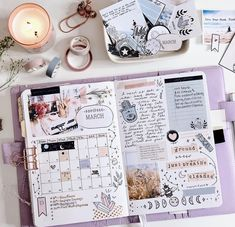 """March Planning Bujo ⭐️ I used my new printable kit """"Just Breathe"""" for this spread and I wanted to share a few tips on how to use a… Planner Bullet Journal, Bullet Journal Lettering Ideas, Bullet Journal Notebook, Bullet Journal Inspo, Bullet Journal Spread, Bullet Journal Ideas Pages, Journal Pages, Agenda Bullet, Bullet Journal Aesthetic"""