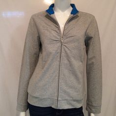 """NordicTrack Womens Performance Jacket NordicTrack Womens Performance Jacket. Zipper up with 2 pockets. Armpit to armpit 19"""", Length 24"""", Sleeve length 24"""". 90% Cotton, 5% Spandex. Please Note Tag, this is a M/M. Please refer to measurements. NordicTrack Jackets & Coats"""