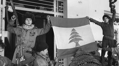 Palestinian fighters unfurl a Lebanese flag at the Holiday Inn after they dislodged Lebanese Christian forces on March 26, 1976. The hotel was a battleground throughout the 1975-'90 Lebanese war, with its upper floors used as snipers' nests. Beirut's Holiday Inn: Once Chic, Then Battered, Still Contested | Boise State Public Radio