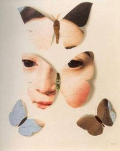 Regard Intemporel , Jiri Kolar - Collage, Mademoiselle Rivière by Ingres Photomontage, Mademoiselle Caroline, Art Papillon, Nanu Nana, Art Du Collage, Art Postal, Frida Art, Butterfly Art, Butterflies