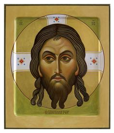 "Modern Russian Orthodox icon of the famous ""Christ Golden Hair"" from the Novgorod school of iconography. Religion, Face Icon, Russian Icons, Russian Orthodox, Byzantine Icons, Golden Hair, Orthodox Icons, Sacred Art, Holy Spirit"