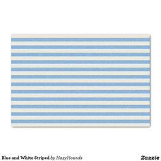"""Blue and White Striped 10"""" X 15"""" Tissue Paper"""