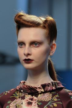 Antonio Marras Beauty A/W '14 || minimal victory rolls