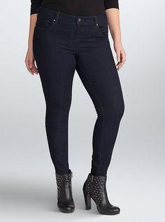 Rebel Wilson for Torrid Tint Skinny Jeans, BLACK