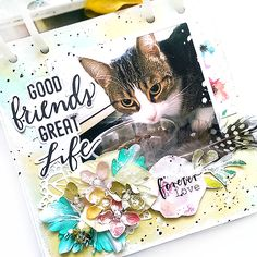 Witajcie Kochani! Wydawałoby się, że mój twórczy świat kręci się ostatnio prawie wyłącznie wokół kotów :D Cóż.. po prostu oddaję swoją codz...