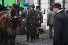 Sherlock Holmes filming in London, Martin Freeman, Benedict Cumberbatch,