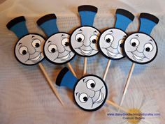 Hey, I found this really awesome Etsy listing at https://www.etsy.com/listing/228991385/thomas-the-train-cupcake-toppers-set-of