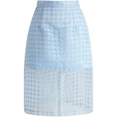 Ohh, we're crazy in love with this sheer houndstooth pencil skirt! Houndstooth is such a classic print and the sheer detail makes it super casual! It's the per…