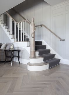 "1821 W. Summerdale - Virginia Oak flooring - 5"" herringbone configuration"