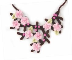 Free Cherry Blossom Necklace Crochet Pattern