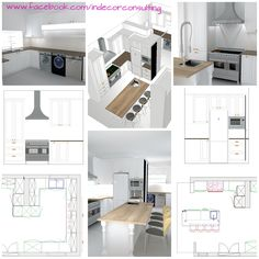 drawings done for a proposed kitchen renovation Perspective Drawing, 3d Drawings, Conceptual Design, Kitchen, Cooking, Kitchens, Cuisine, Cucina