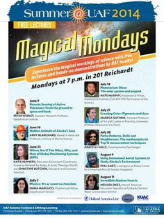 Magical Mondays - Let's get our hands dirty and play with Science!  Every Monday all Summer long at Reichardt Rm 201 7pm.  Fun for the whole family!