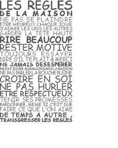 enfant - child - règles de la maison - point de croix - cross stitch - Blog : http://broderiemimie44.canalblog.com/