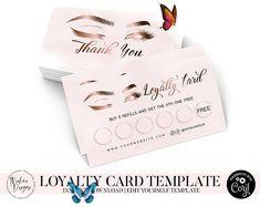 Watercolor Lips Premade Logo Design Makeup Artist Business | Etsy Business Card Logo, Business Card Design, Business Ideas, Logan, Loyalty Card Template, Eyelash Logo, Logo Facebook, Double Sided Business Cards, Lashes Logo