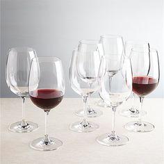 Set of 8 Viv Big Red Wine Glasses | Crate and Barrel