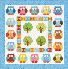 Owl quilt - shows steps to making it