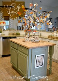 Adventures in Decorating: Our Fall Kitchen ..Wonderful Tradition,.Fall Family Tree!