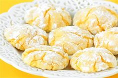 Easy Lemon Cookies Recipe 20-30 with lemon cake mix, lemon juice  zest | gimmesomeoven.com. NOTE: for rounder  fluffier cookies chill dough or cookies before baking