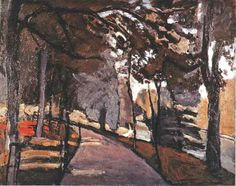 The path in the Bois de Boulogne by Henri Matisse. Medium: oil on canvas .