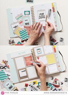 Memory Notebook: Get ready to the next month @pinkpaislee @akossakovskaya #pinkpaislee #scrapbooking #diy #ppMemorandum #memorynotebook