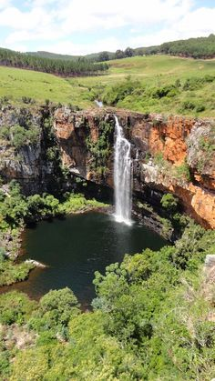 The Berlin Falls is a waterfall in Mpumalanga, South Africa. They are located close to God's Window and the highest waterfall in South . Natural Waterfalls, Beautiful Waterfalls, Beautiful Landscapes, Dream Vacations, Vacation Spots, Beautiful World, Beautiful Places, Amazing Places, Kruger National Park