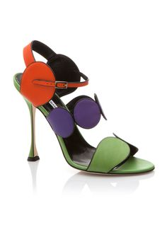 Manolo Blahnik Multicolor Sandal Spring 2015 #Manolos #Shoes #Heels
