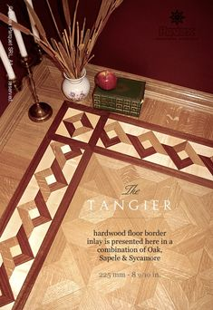 No.83 - Hardwood Floor Border, The Tangier Pattern