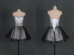 Hey, I found this really awesome Etsy listing at http://www.etsy.com/listing/159705581/short-black-and-white-prom-dresses-on