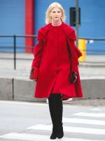 Lessons In Layering From The Streets Of New York City #refinery29  http://www.refinery29.com/2016/02/103173/ny-fashion-week-fall-winter-2016-street-style-pictures#slide-1  Balance out a super-embellished coat with cool basics, like cropped jeans and a logo tee (and a turtleneck layered underneath, of course)....