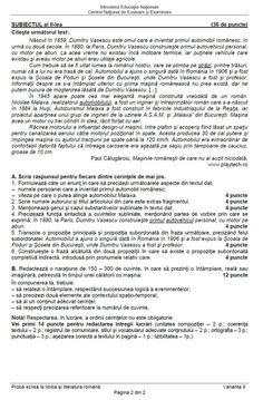 EVALUAREA NAŢIONALĂ 2017 ROMÂNĂ: subiecte, barem, rezolvări