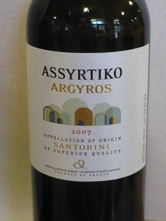 Assyrtiko Argyros. Greek white wine, perfect match with grilled fish. Enjoy.