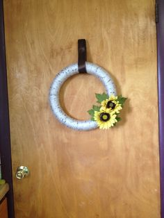 Beautiful Spring Summer Fall Wreath Indoor Kitchen Mantle by ChickenLadyWreaths on Etsy