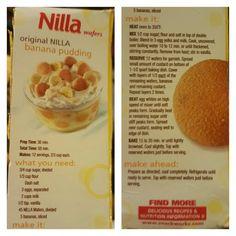 Original Nilla Wafer Banana Pudding (best stuff EVER!!!)