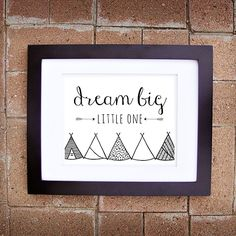 Dream Big, Little One. Instantly download our printable nursery art from Plum Street Prints!