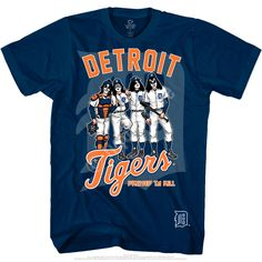 93ecaee0 Detroit Tigers KISS Dressed to Kill Navy T-Shirt Mlb Detroit Tigers, Sport T