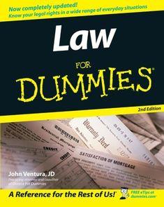 Law For #Dummies/John Ventura