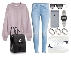 """Sin título #12384"" by vany-alvarado ❤ liked on Polyvore featuring H&M, adidas Originals, Ray-Ban, ASOS and Casio"