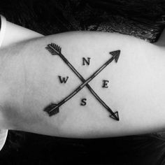 Inner arm of a two arrow compass. Tattoo artist: Craigy Lee ...