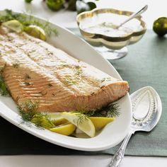 Salmon with Mustard Glaze   #christmas #holiday #recipes