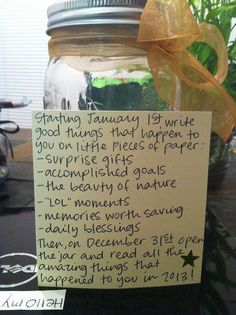Neat idea! I'm doing this right now for my senior year, and I'm gonna open it on graduation!