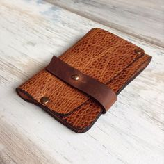 Genuine Leather Slim Wallet Credit Card Holder Case Handmade Unique Design Brown | Clothing, Shoes & Accessories, Men's Accessories, Wallets | eBay!