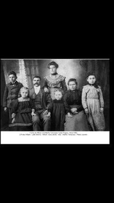 William P.B. Rogers and wife, Martha Tennessee Turner Rogers, and  their children.  Ader, Idus, Phebe, Lottie, and Noba .