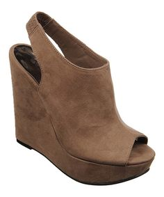 Love this Taupe Becket Wedge by Carlos by Carlos Santana on #zulily! #zulilyfinds
