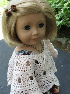 A Doll for all Seasons: Easy Sundress and Shawl. There are more re-makes for A.M.G. dolls using recycled clothing.