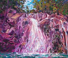 """The Erin Hanson Gallery on Instagram: """"Lewis River Trail 2021 OIL ON CANVAS by erin hanson 26 x 30 in SOLD The mammoth waterfalls along Lewis Creek Trail are captured here in…"""" American Impressionism, Modern Impressionism, Impressionist, Erin Hanson, River Trail, Large Painting, Art Inspo, Art Reference, Oil On Canvas"""