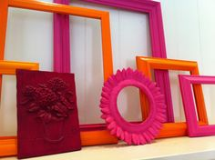 Gallery Wall Frames Funky Vintage Frame Set for girls bathroom