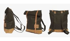 MONOQI | Rucksack Roll Up - Dunkelgrün. this brand is completely sold out!